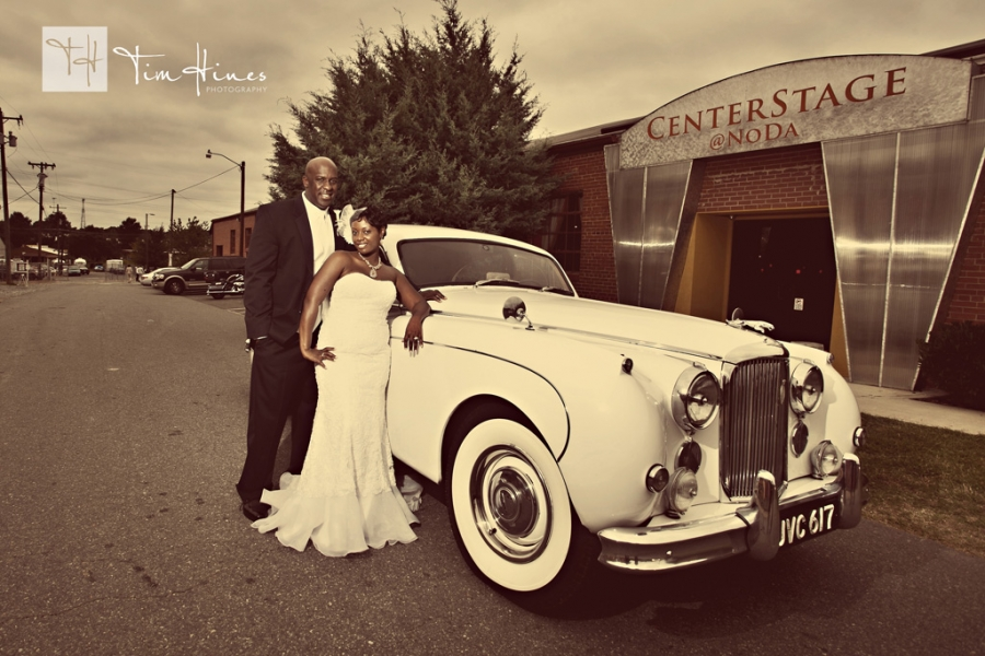 Charlotte Wedding Bride and Groom at Centerstage Noda photographer