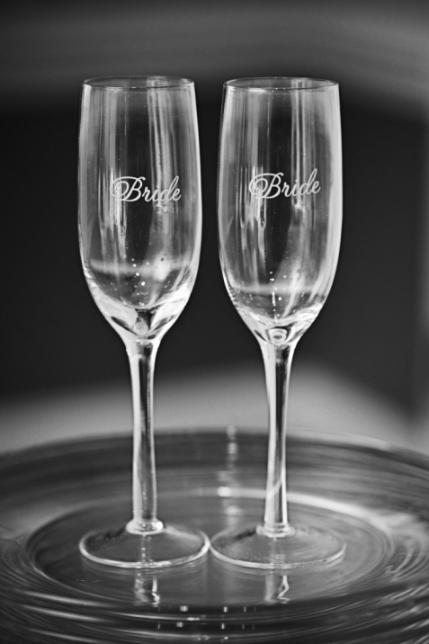 Charlotte Wedding Photographer bride champagne