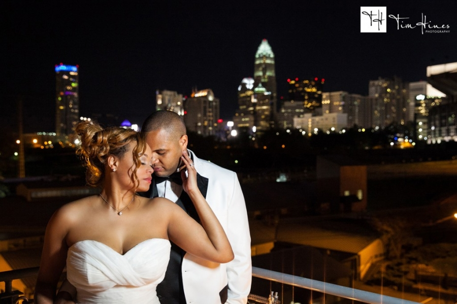 roof with a view wedding Charlotte photographer